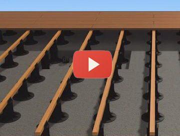 Видео по монтажу террасы на опоры для лаг
