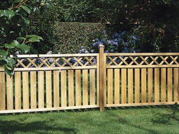 Штакетник деревянный забор