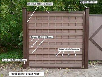 Забор проветриваемый композитный