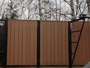 Забор из Универсальной доски ДПК