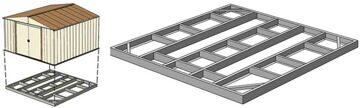 Основание для металлических сараев (схема)