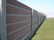Забор из ДПК с бетонными столбами