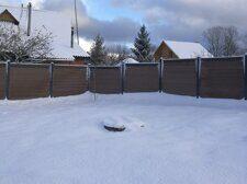 Забор для дачи из ДПК