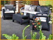 Набор мебели с трехместным диваном Corfu