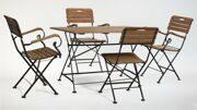 Стол прямоугольный 4 кресла