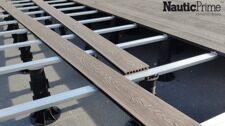 Монтаж доски Nautic Prime на лаги и опоры