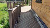 Ограждение террасы вокруг дома