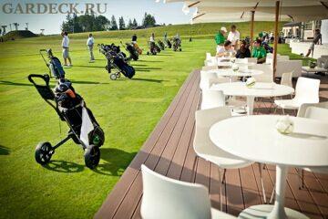 Террасная доска полимерная в гольф клубе Целеево