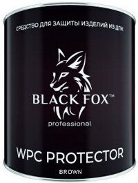 black fox банка коричневый