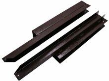 Угловой элемент для низкой грядки металл 90 градусов, коричневый