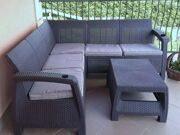 Угловой пятиместный диван Раттан