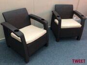 Кресла уличные TWEET Double Set